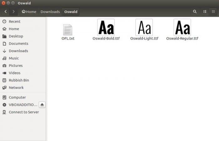 Manually Install Fonts on Ubuntu 16 10, Ubuntu 16 04, Ubuntu