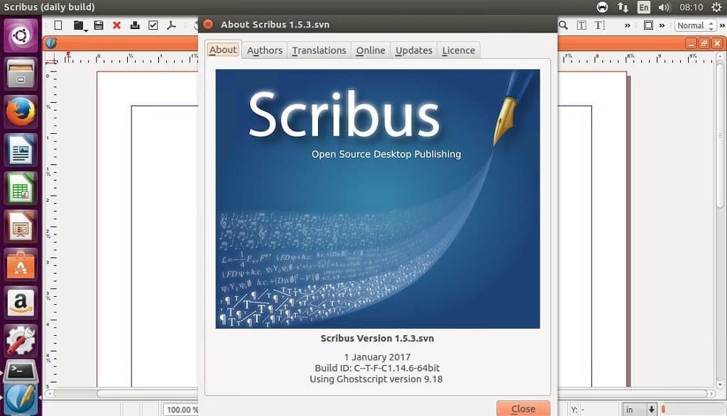 scribus 1.5.3