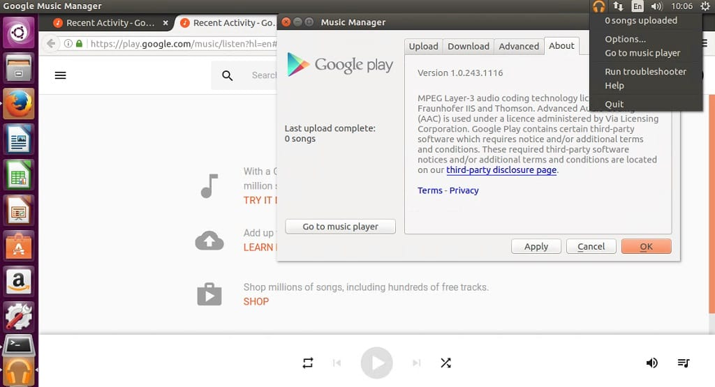 How to Install latest Google Play Music Manager on Linux – Linux Hint