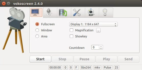 Screen Recorders Vokoscreen