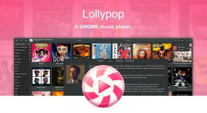 lollypop gnome music player