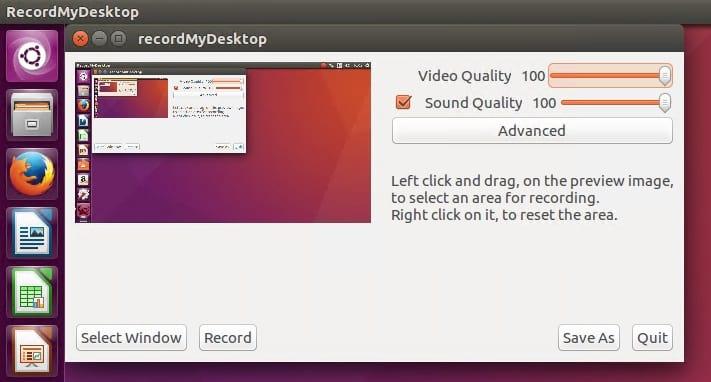 Screen Recorders recordMyDesktop