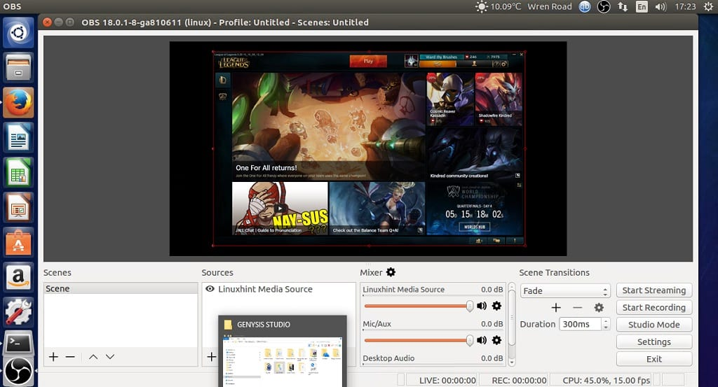 How to install Open Broadcaster Studio 18 0 1 on Ubuntu