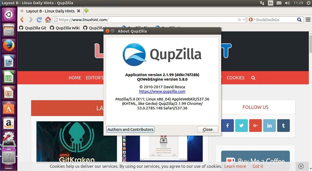 How to install QupZilla 2 1 2 Lightweight Browser on Linux