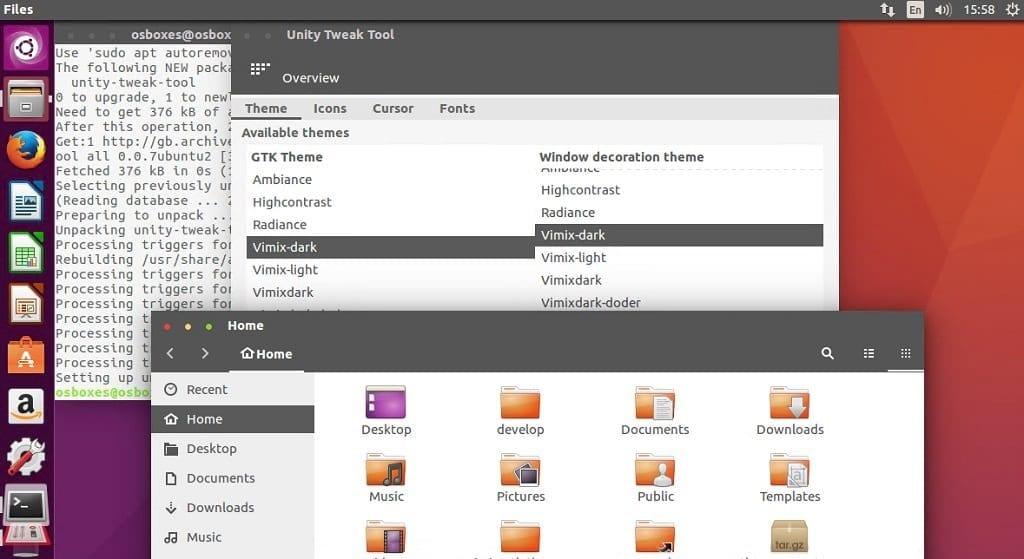 install Vimix Theme