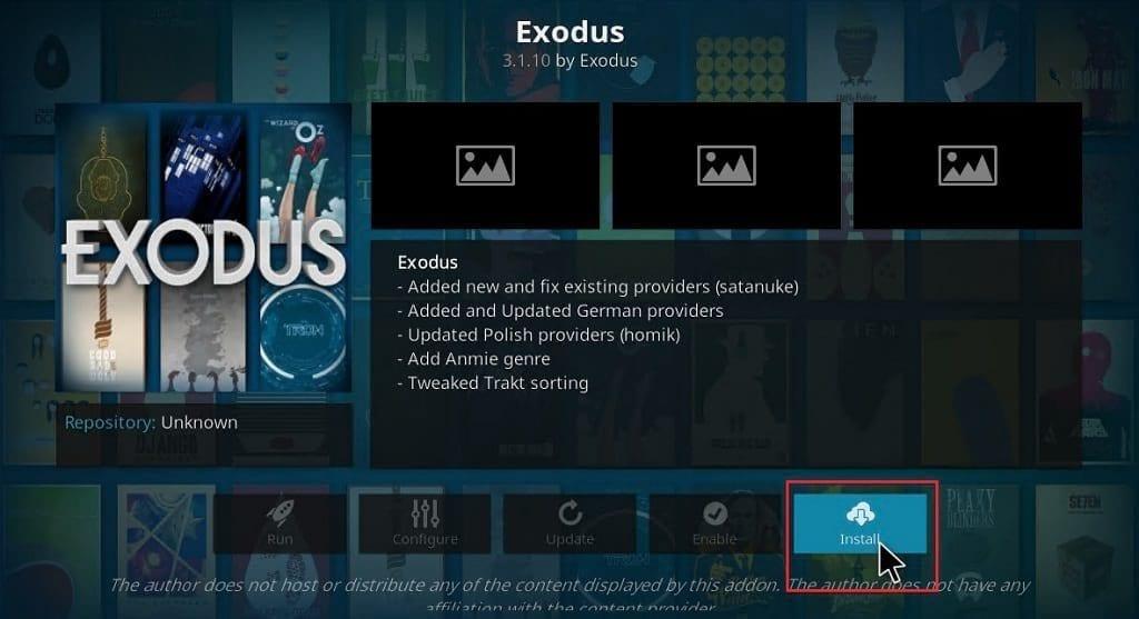 install exodus on kodi
