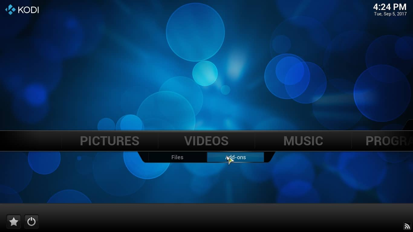 Kodi Menus Screenshot