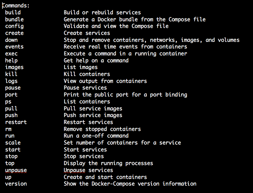 Docker Compose Commands