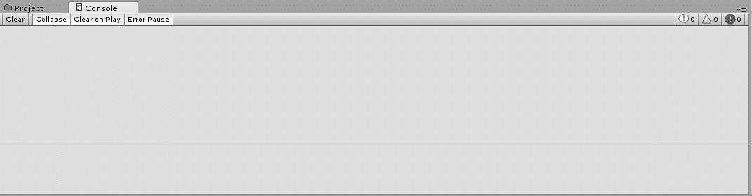 Unity3d console window