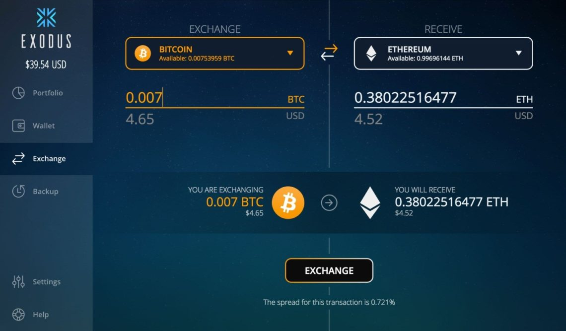 Exodus Bitcoin Wallet 2
