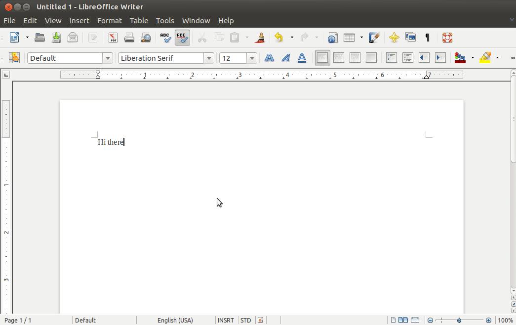 Libre Office Screen Shot