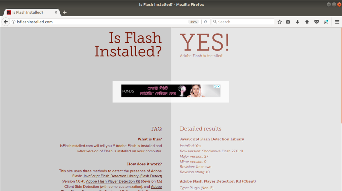 flash player projector linux