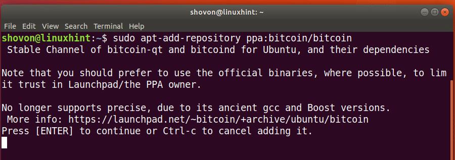 Sudo add apt repository ppa bitcoin bitcoin