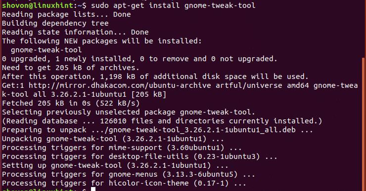Gnome Tweak Tool Ubuntu 17 10 – Linux Hint