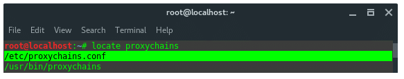 Proxy Chains Configuration