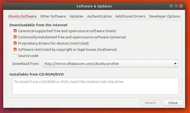 Updating repositories in ubuntu