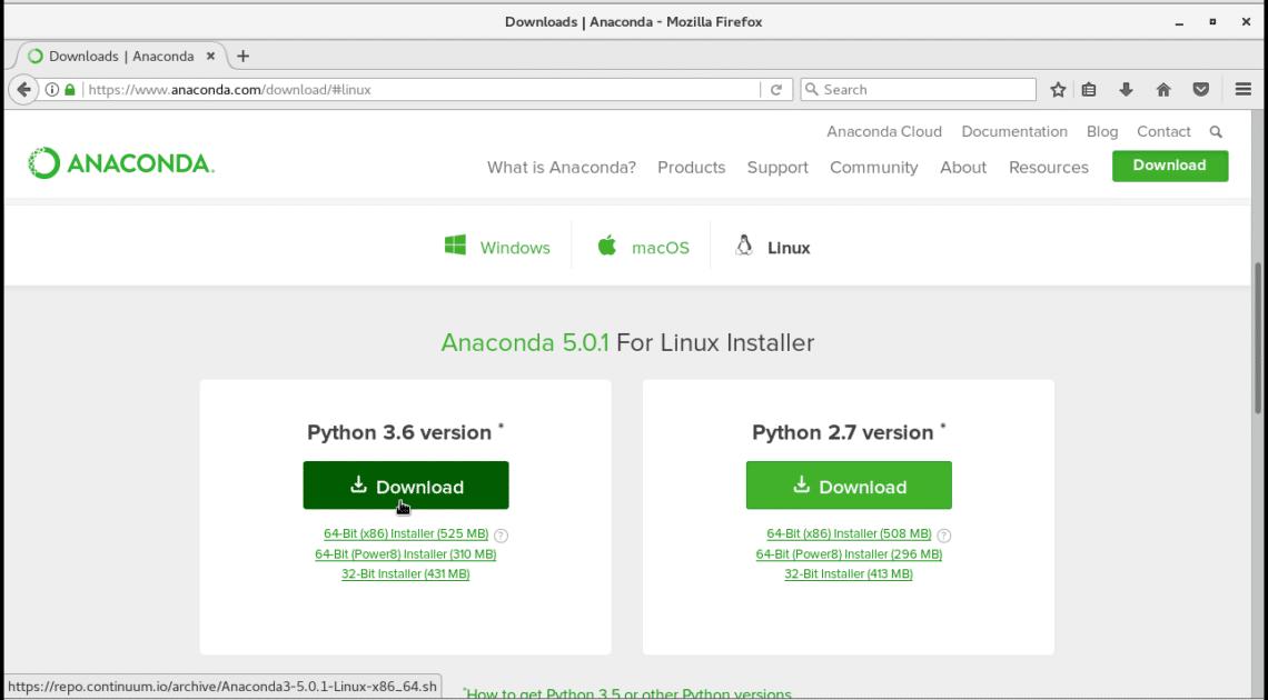 anaconda python download continuum