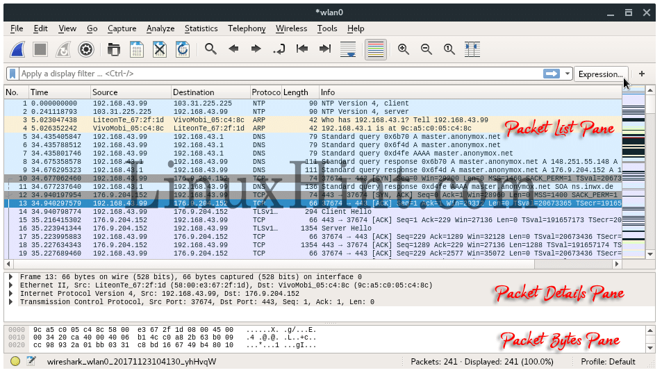 Wireshark Tutorial – Linux Hint