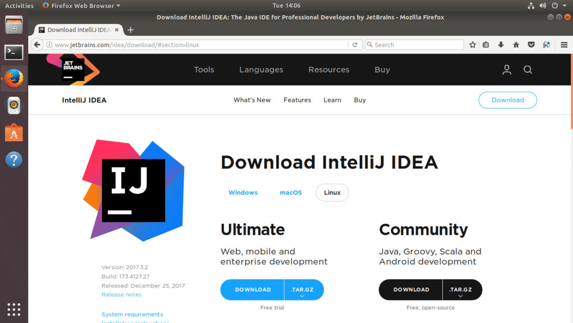 Install IntelliJ Community Edition on Ubuntu 17 – Linux Hint