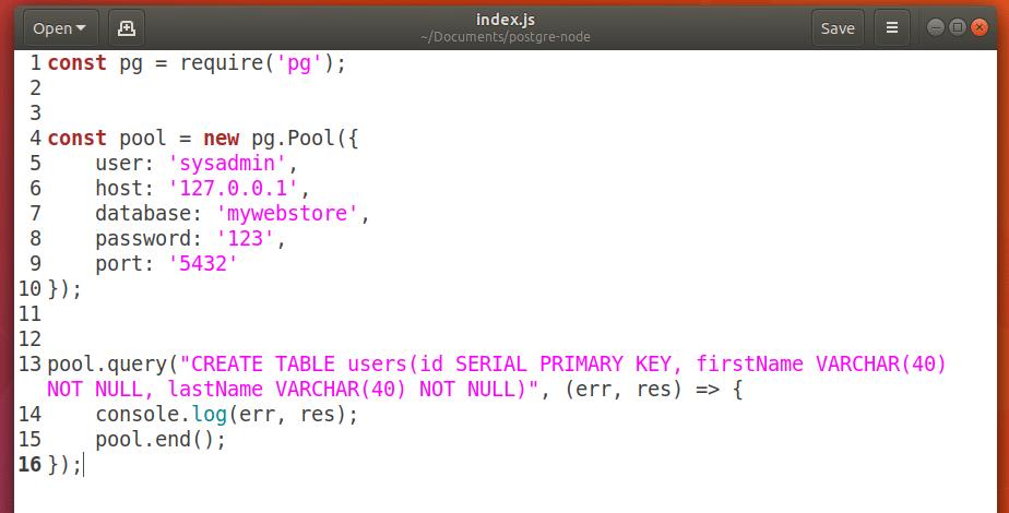PostgreSQL NodeJS Tutorial – Linux Hint