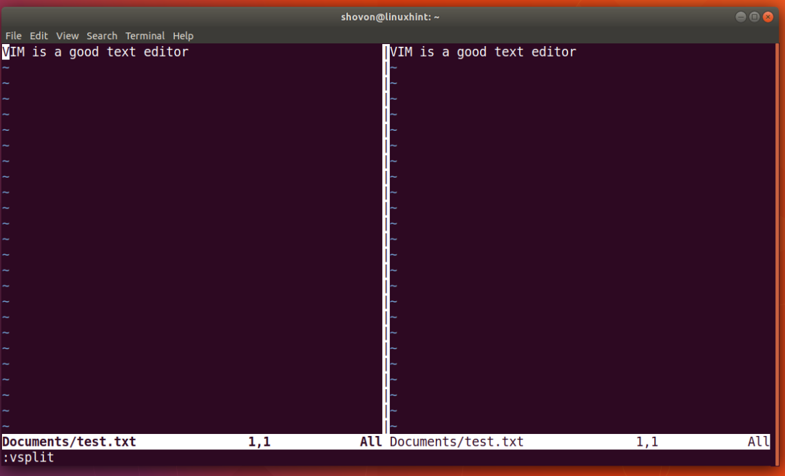 How To Use VIM Split Screen – Linux Hint