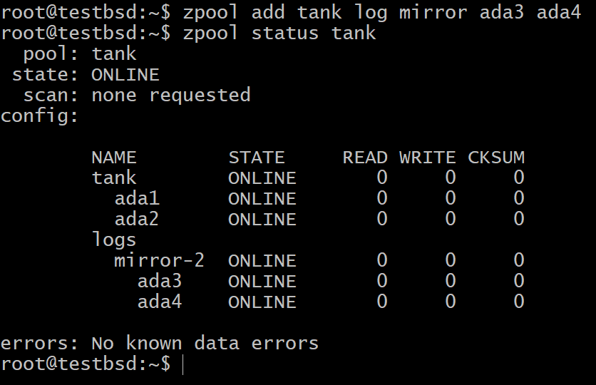 Configuring ZFS Cache for High Speed IO – Linux Hint