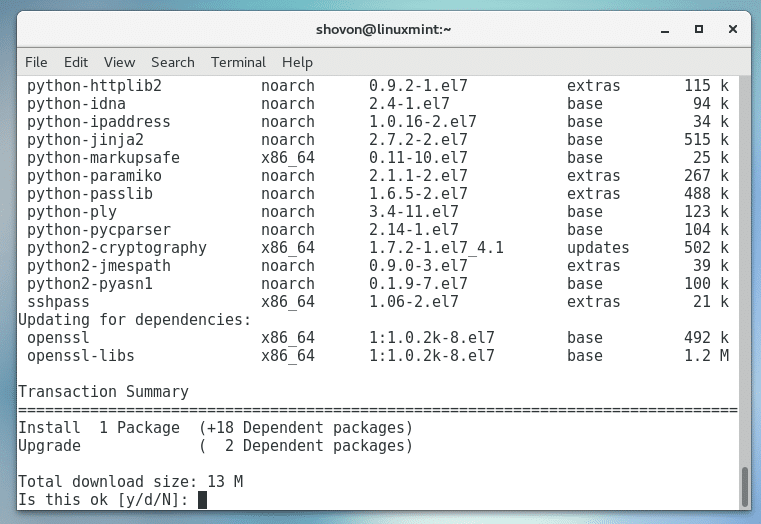 Install Ansible on CentOS7 – Linux Hint