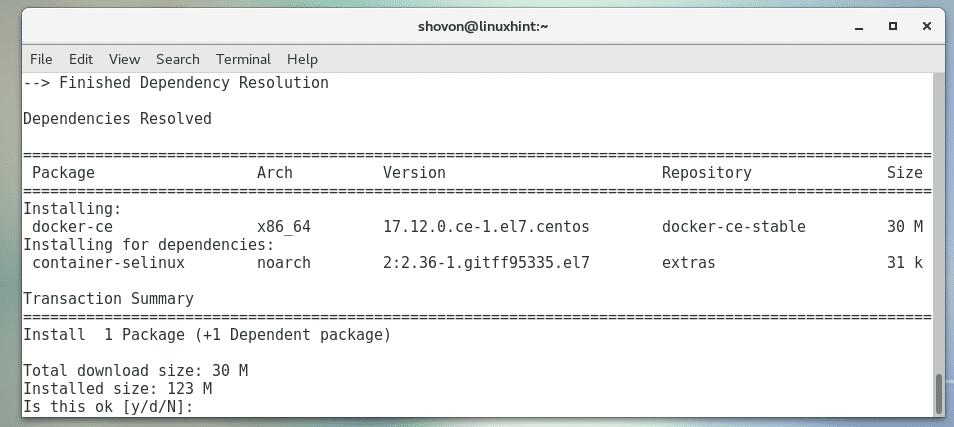 Install Docker on CentOS7 – Linux Hint