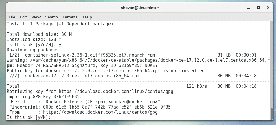 Install Docker on CentOS7 – Linux Hint