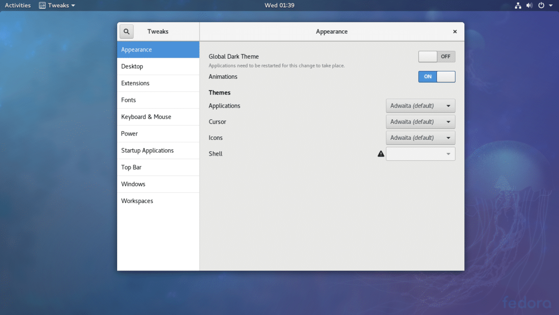Install Gnome Tweak Tool on Fedora 27 – Linux Hint