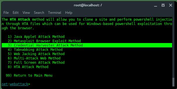 Kali Linux: Social Engineering Toolkit – Linux Hint