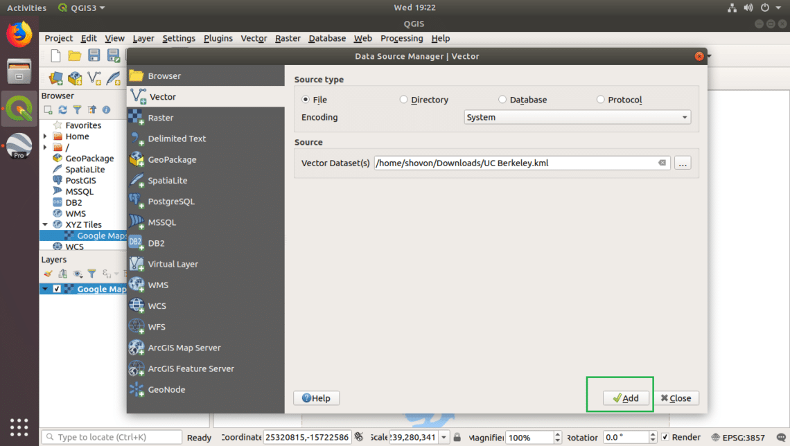 Import Google Earth Data into QGIS for Further Analysis – Linux Hint