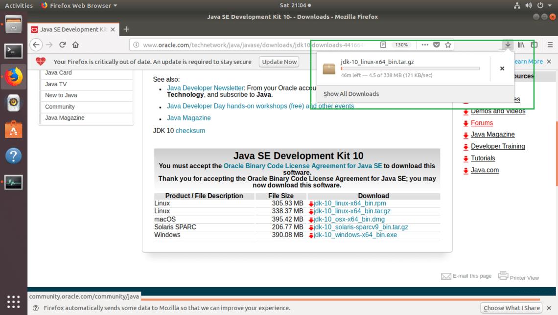 Install Oracle JDK 10 on Ubuntu 18 04 LTS – Linux Hint