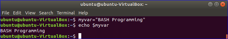 Variables Bash Programming