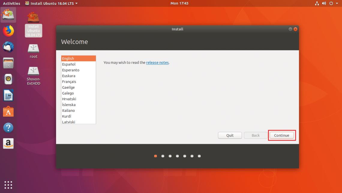 install ubuntu 18.04