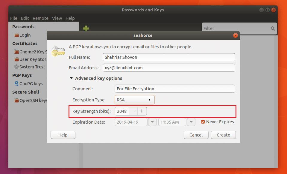 Seahorse Encryption Ubuntu