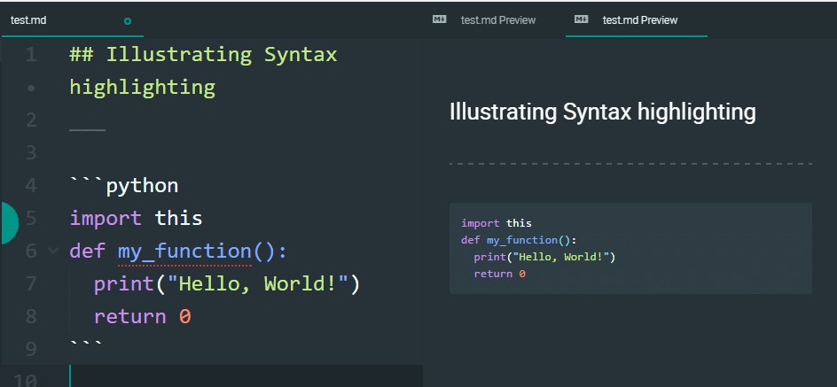 Syntax Highlighted Markdown Code Blocks In Essentials Slaks