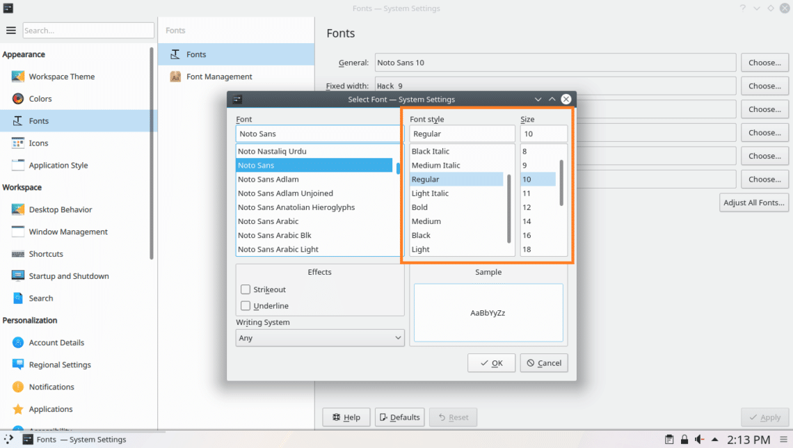 How to Customize Fonts on Arch Linux – Linux Hint