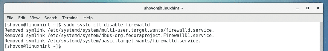 how to disable firewalld