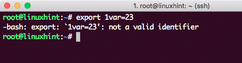 Creating invalid variable