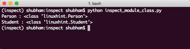 Python inspect module class