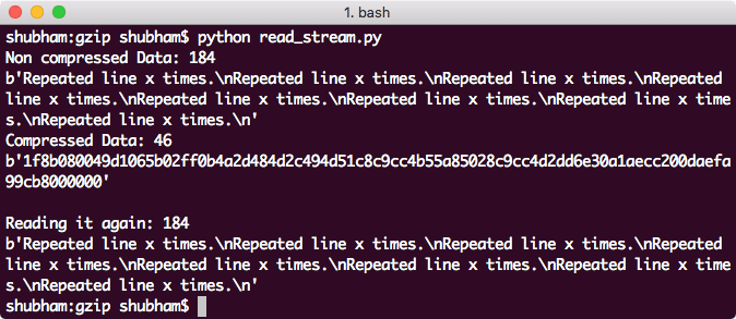 Reading gzip file in a Stream
