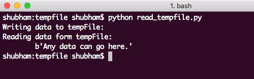 Python read from temporary file