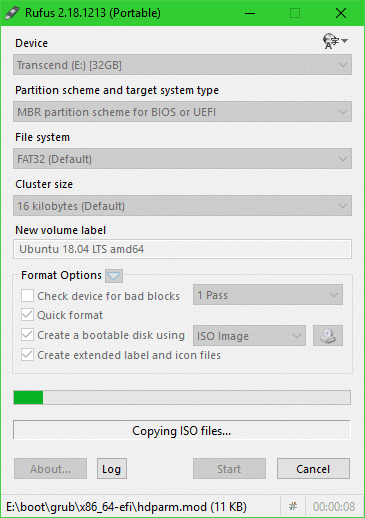 rufus uefi boot ubuntu