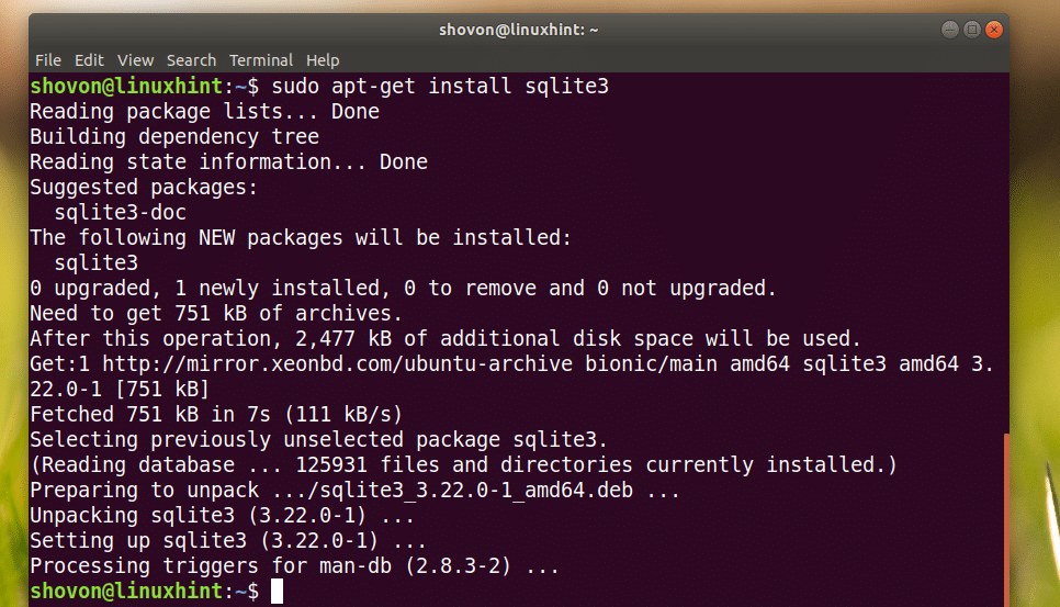 Install SQLite and SQLite Browser on Ubuntu 18 04 LTS – Linux Hint