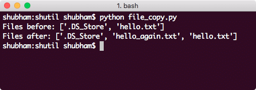 Python shutil file copy
