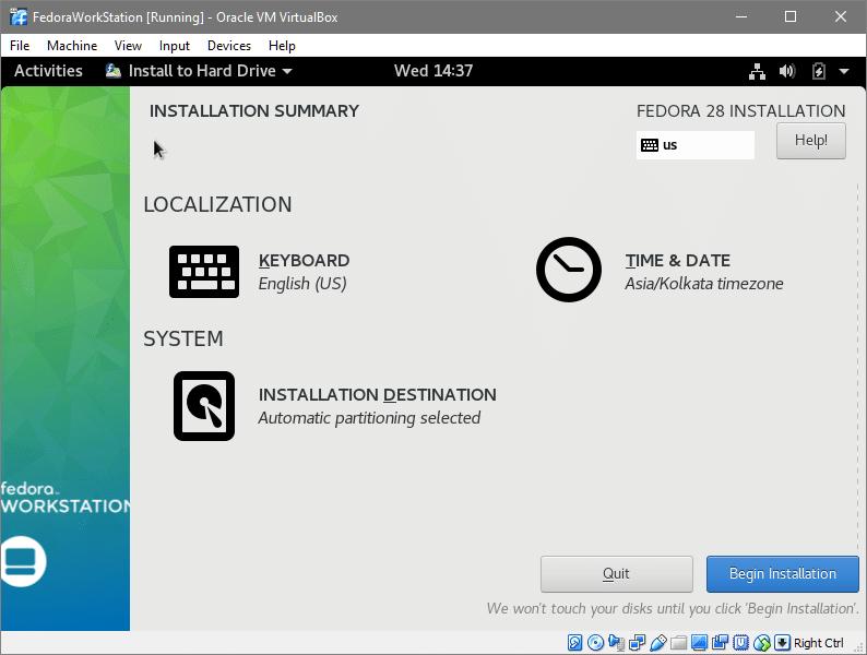 Install Fedora 28 in VirtualBox – Linux Hint