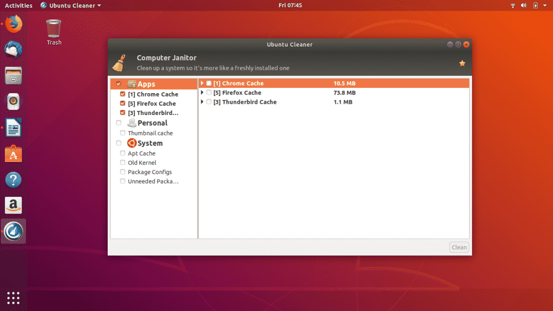 aff4ab97394 Ubuntu Cleaner is one of the best alternatives to BleachBit which is also a  decent cleaning tool available for Linux distros.