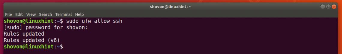 open ports on ubuntu 18.04