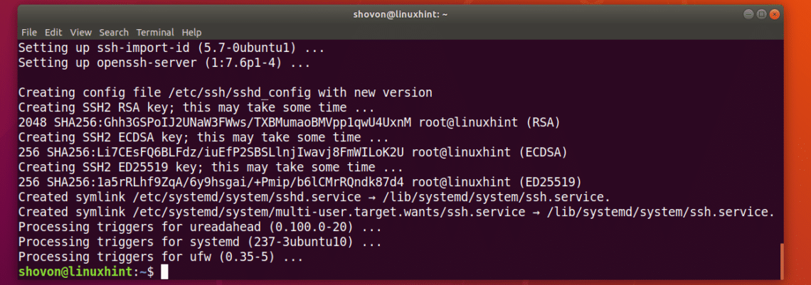 How to Enable SSH Server on Ubuntu 18 04 LTS – Linux Hint
